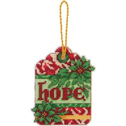 click here to view larger image of Susan Winget Hope Ornament (counted cross stitch kit)