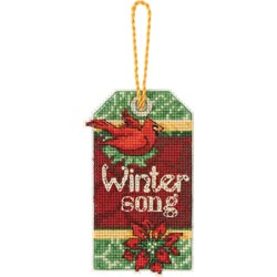 click here to view larger image of Susan Winget  Winter Song Ornament (counted cross stitch kit)