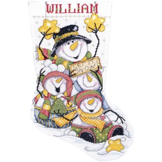 click here to view larger image of Let It Snow Stocking (counted cross stitch kit)