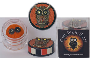 click here to view larger image of Owl Pinball Jar (LIMITED) (charm)