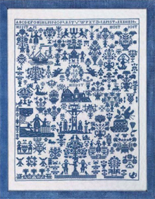 click here to view larger image of Sampler  Blue (counted cross stitch kit)