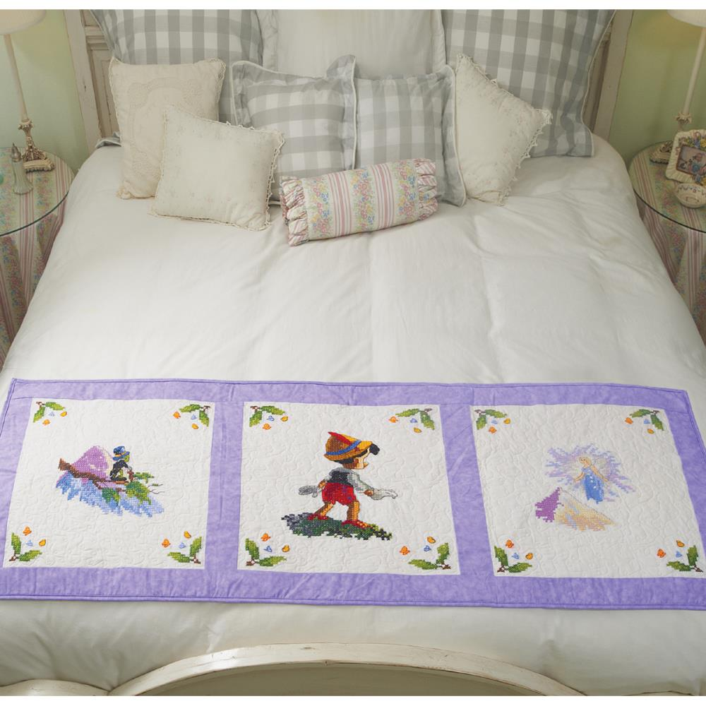 click here to view larger image of Pinocchio Wishes Upon A Star Quilt Blocks (stamped cross stitch)