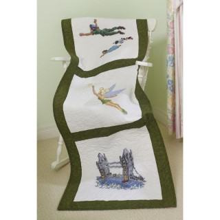 click here to view larger image of Tinker Bell and Peter Pan Quilt Blocks (stamped cross stitch)