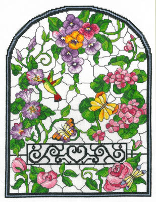 click here to view larger image of Summer Stained Glass - Kit (counted cross stitch kit)