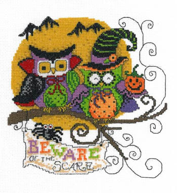 click here to view larger image of Beware of the Scare - Kit (counted cross stitch kit)