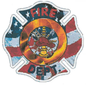 click here to view larger image of Thank You Firefighters - Kit (counted cross stitch kit)