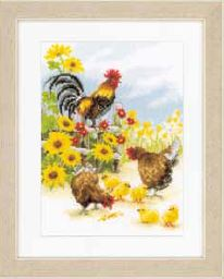click here to view larger image of Cock-a-Doodle-Do (aida) (counted cross stitch kit)