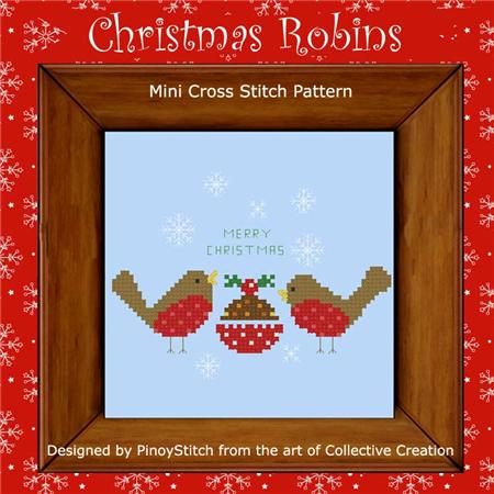 click here to view larger image of Christmas Robins (chart)
