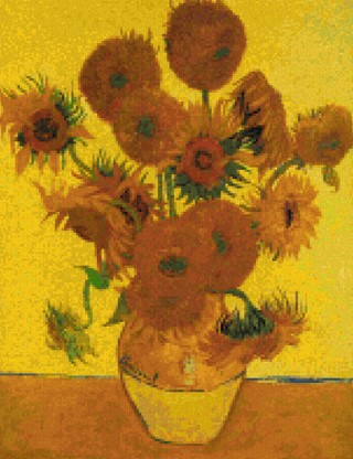 click here to view larger image of Bouquet of Sunflowers - Vincent Van Gogh (chart)
