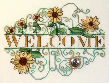 click here to view larger image of Sunflower Welcome (chart)