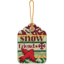 click here to view larger image of Susan Winget  Snow Friends Ornament (counted cross stitch kit)