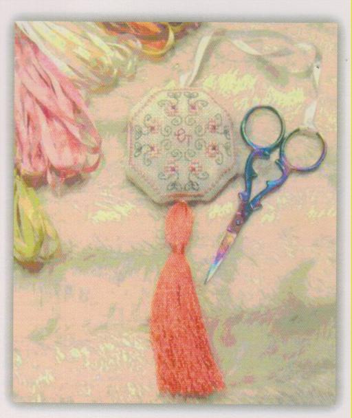 click here to view larger image of Petite Fleur Scissor Fob (chart)