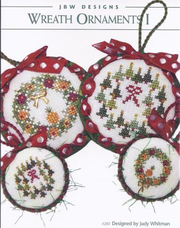 click here to view larger image of Wreath Ornaments I & embellishment pack (chart (special))