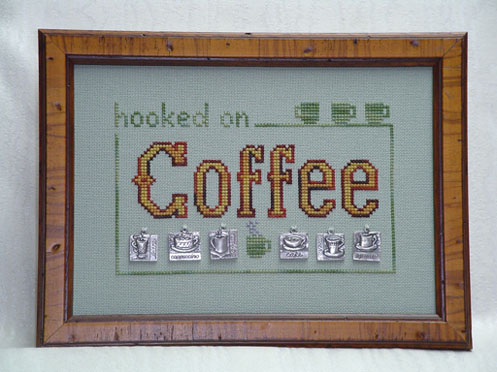 click here to view larger image of Hooked on Coffee  w/charms (chart with charms/buttons)