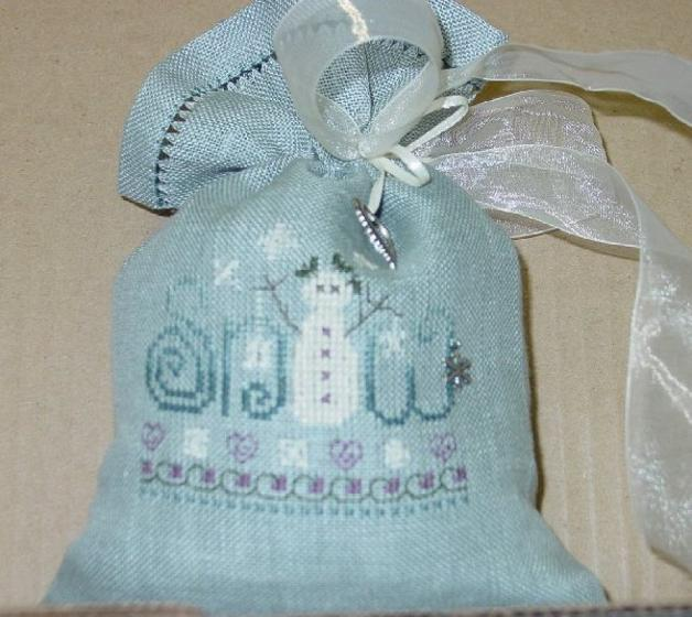 click here to view larger image of Snow Treat Bag (counted cross stitch kit)