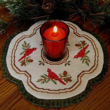 click here to view larger image of Little Candle Mats - Cardinals (chart)