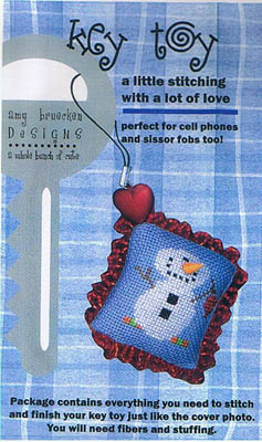 click here to view larger image of Key Toy Kit (Snowman) (counted cross stitch kit)