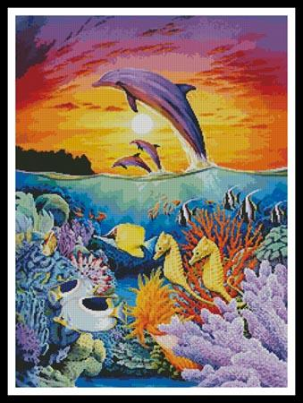 click here to view larger image of Dolphins and Seahorses  (Robin Koni) (chart)