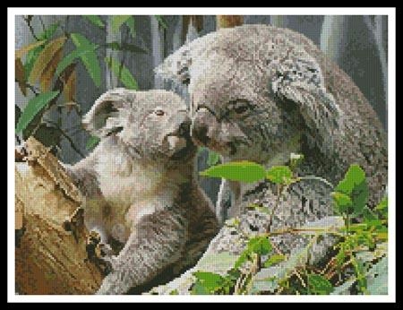 click here to view larger image of Mum and Baby Koala (chart)
