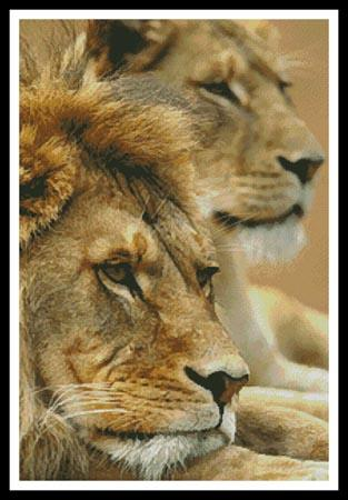 click here to view larger image of Lion Couple (chart)