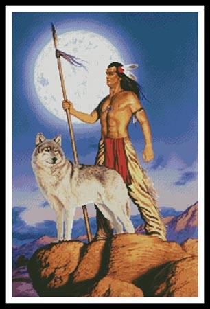click here to view larger image of Native American and Wolf  (Steve Read) (chart)