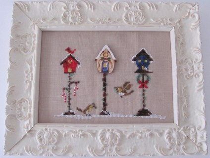 click here to view larger image of Christmas Birdhouse (chart with charms/buttons)