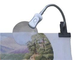 click here to view larger image of 7 Inch Mini Clip-on Magnifier w/LED Light and Batteries (accessory)