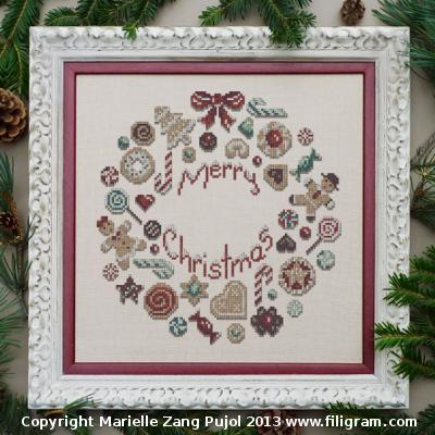 click here to view larger image of CookieS Christmas Wreath (chart)
