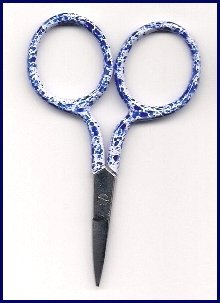 click here to view larger image of Spotty Blue Scissors (accessory)