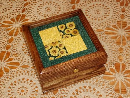 click here to view larger image of Quilt Box in Oak (stitchable)