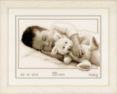 click here to view larger image of Cuddling (counted cross stitch kit)