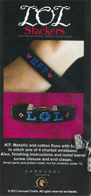 click here to view larger image of LOL Wristband Stacker Kit (counted cross stitch kit)
