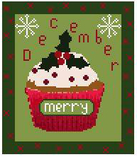 click here to view larger image of December -  Cupcake of the Month (chart)
