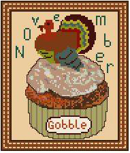 click here to view larger image of November - Cupcake of the Month (chart)