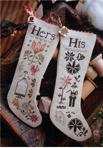 click here to view larger image of His & Hers Thanksgiving Stockings (chart)