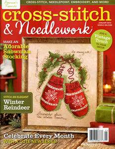 click here to view larger image of Cross Stitch & Needlework Magazine - January 2014 (magazines)