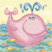click here to view larger image of Whale - Cross Stitch Critters - Aida (counted cross stitch kit)