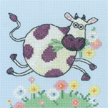 click here to view larger image of Cow - Cross Stitch Critters - Aida (counted cross stitch kit)