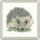 click here to view larger image of Hedgehog - Little Friends - Coaster kit (counted cross stitch kit)