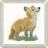 click here to view larger image of Fox Cub - Little Friends - Coaster Kit (counted cross stitch kit)