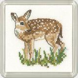 click here to view larger image of Fawn - Little Friends - Coaster kit (counted cross stitch kit)