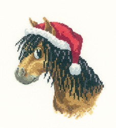 click here to view larger image of Christmas Pony - Peters Farm Collection (kit) (counted cross stitch kit)