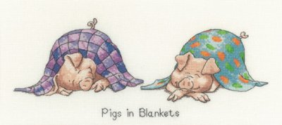 click here to view larger image of Pigs in Blankets - Peters Farm collection (kit) (counted cross stitch kit)