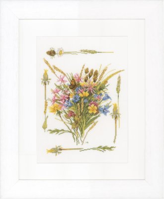 click here to view larger image of Field Bouquet - Evenweave (counted cross stitch kit)
