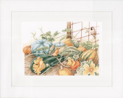 click here to view larger image of Pumpkins - Aida (counted cross stitch kit)