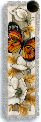 click here to view larger image of Butterfly on Flowers V (counted cross stitch kit)