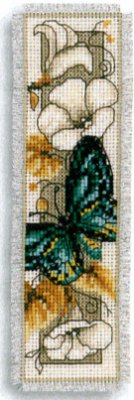 click here to view larger image of Butterfly on Flowers IV (counted cross stitch kit)