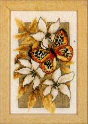 click here to view larger image of Butterfly on Flowers III (counted cross stitch kit)