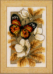 click here to view larger image of Butterfly on Flowers I (counted cross stitch kit)