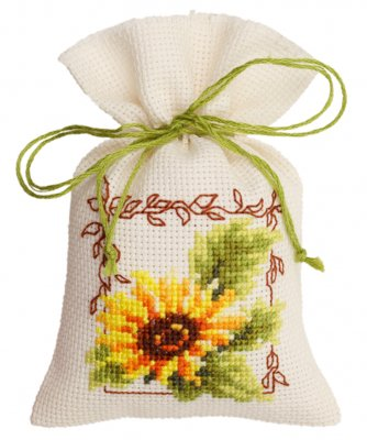 click here to view larger image of Sunflower Bag (counted cross stitch kit)